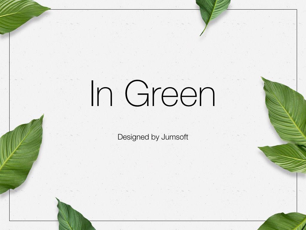 In Green PowerPoint Theme, Slide 3, 05094, Presentation Templates — PoweredTemplate.com