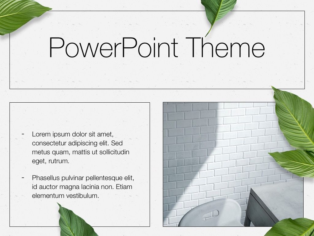In Green PowerPoint Theme, Slide 30, 05094, Presentation Templates — PoweredTemplate.com