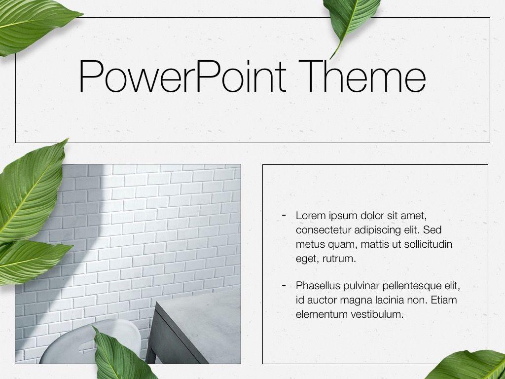 In Green PowerPoint Theme, Slide 31, 05094, Presentation Templates — PoweredTemplate.com