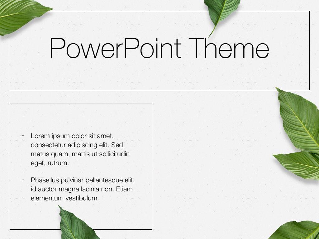 In Green PowerPoint Theme, Slide 32, 05094, Presentation Templates — PoweredTemplate.com