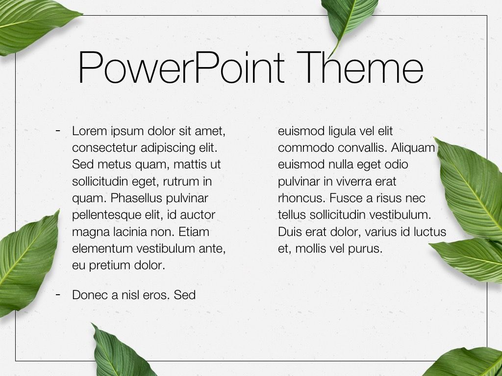 In Green PowerPoint Theme, Slide 5, 05094, Presentation Templates — PoweredTemplate.com