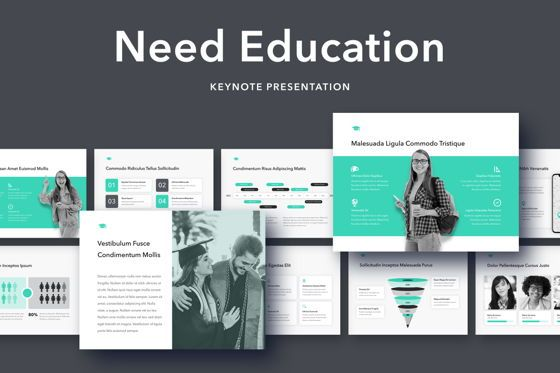 Education Charts and Diagrams: Need Education Keynote Template #05095