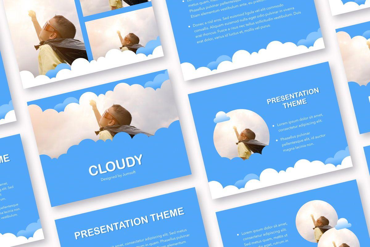 Cloudy Keynote Theme, 05096, Presentation Templates — PoweredTemplate.com