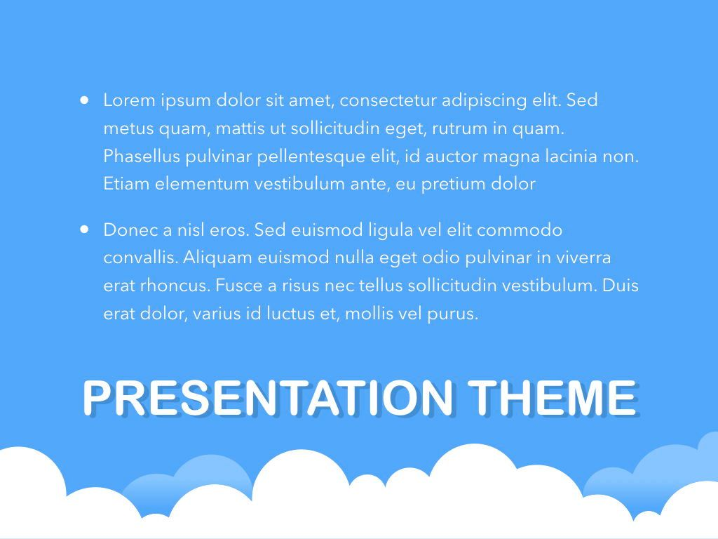 Cloudy Keynote Theme, Slide 11, 05096, Presentation Templates — PoweredTemplate.com