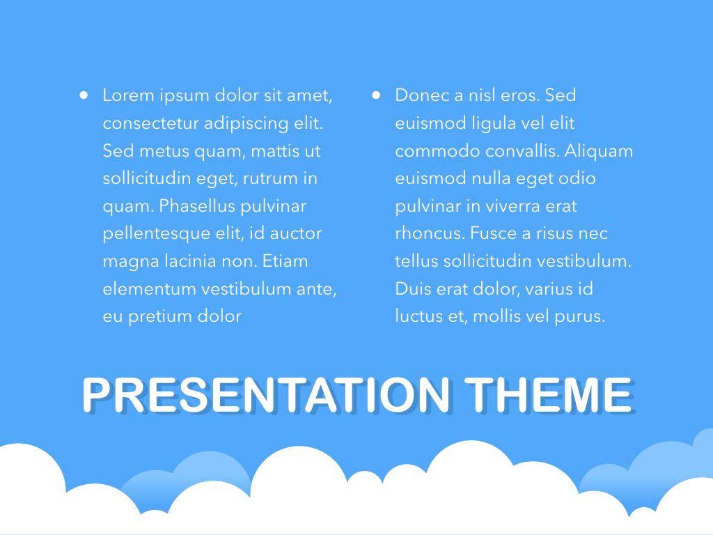 Cloudy Keynote Theme, Slide 12, 05096, Presentation Templates — PoweredTemplate.com