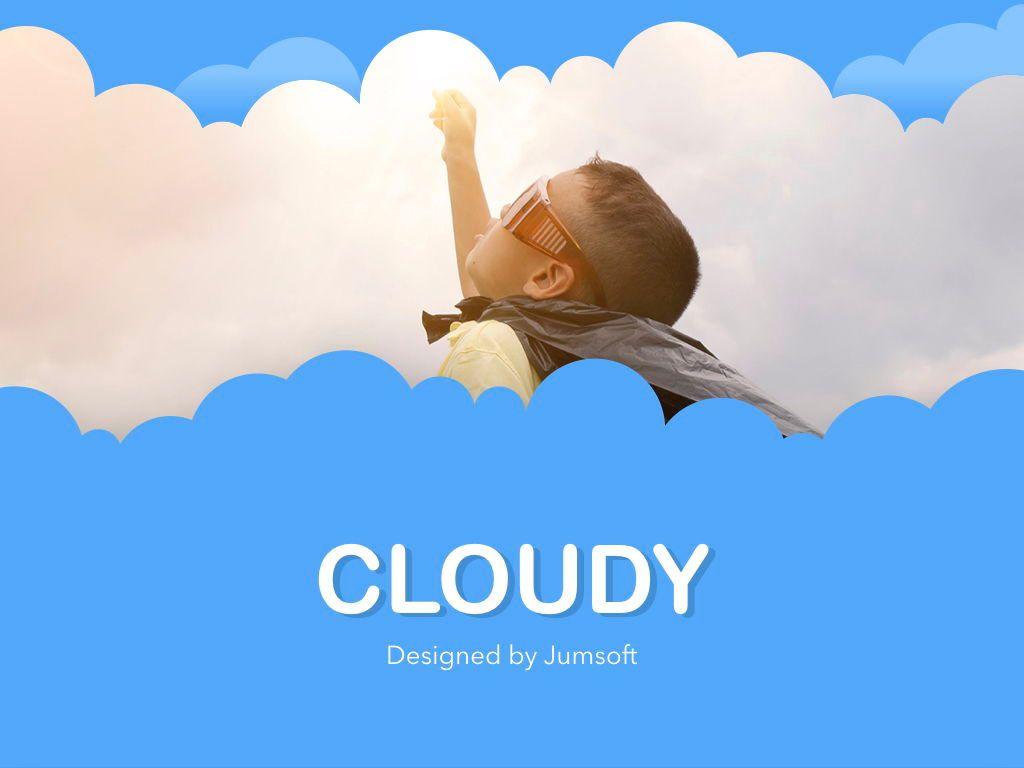 Cloudy Keynote Theme, Slide 13, 05096, Presentation Templates — PoweredTemplate.com
