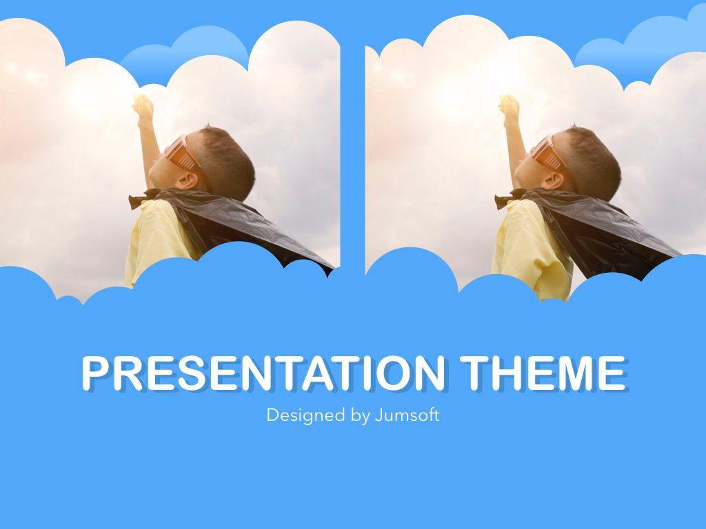 Cloudy Keynote Theme, Slide 14, 05096, Presentation Templates — PoweredTemplate.com