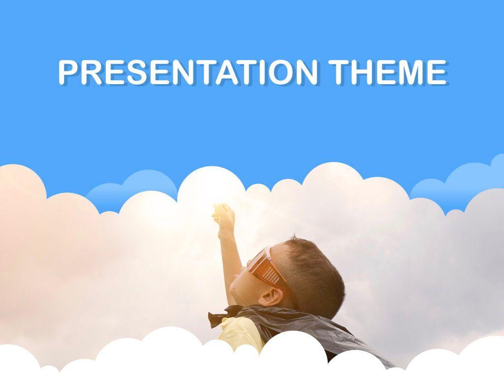 Cloudy Keynote Theme, Slide 15, 05096, Presentation Templates — PoweredTemplate.com