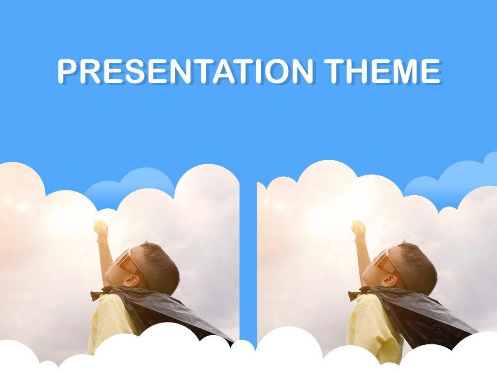 Cloudy Keynote Theme, Slide 16, 05096, Presentation Templates — PoweredTemplate.com
