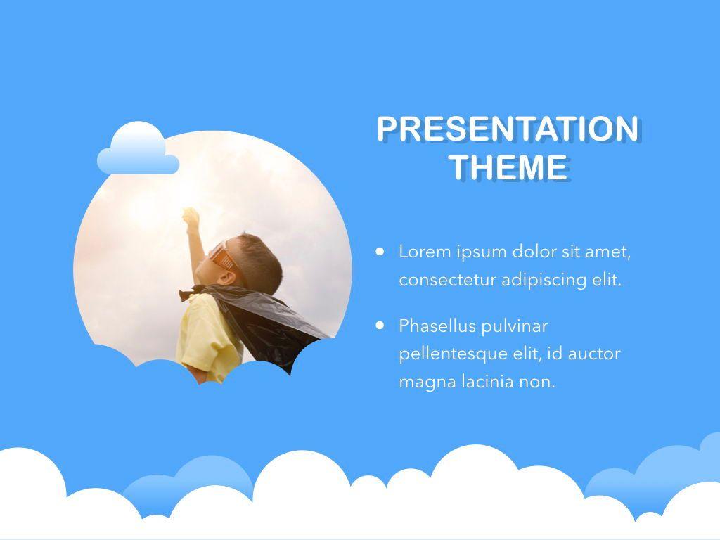 Cloudy Keynote Theme, Slide 18, 05096, Presentation Templates — PoweredTemplate.com