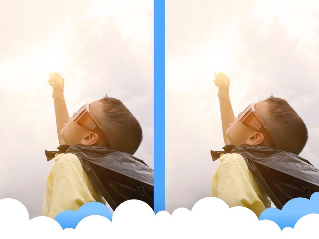 Cloudy Keynote Theme, Slide 26, 05096, Presentation Templates — PoweredTemplate.com