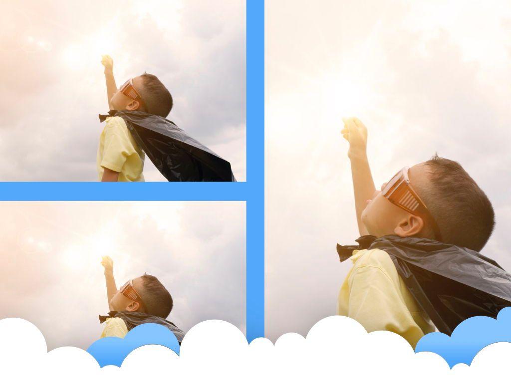 Cloudy Keynote Theme, Slide 27, 05096, Presentation Templates — PoweredTemplate.com