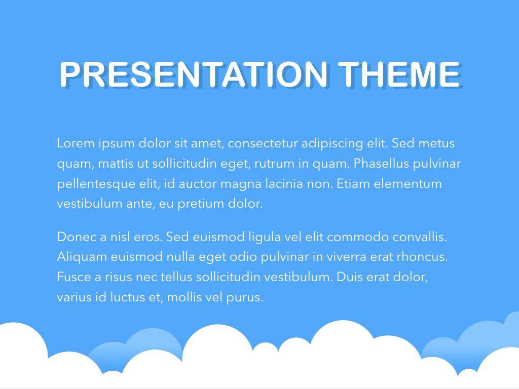 Cloudy Keynote Theme, Slide 3, 05096, Presentation Templates — PoweredTemplate.com