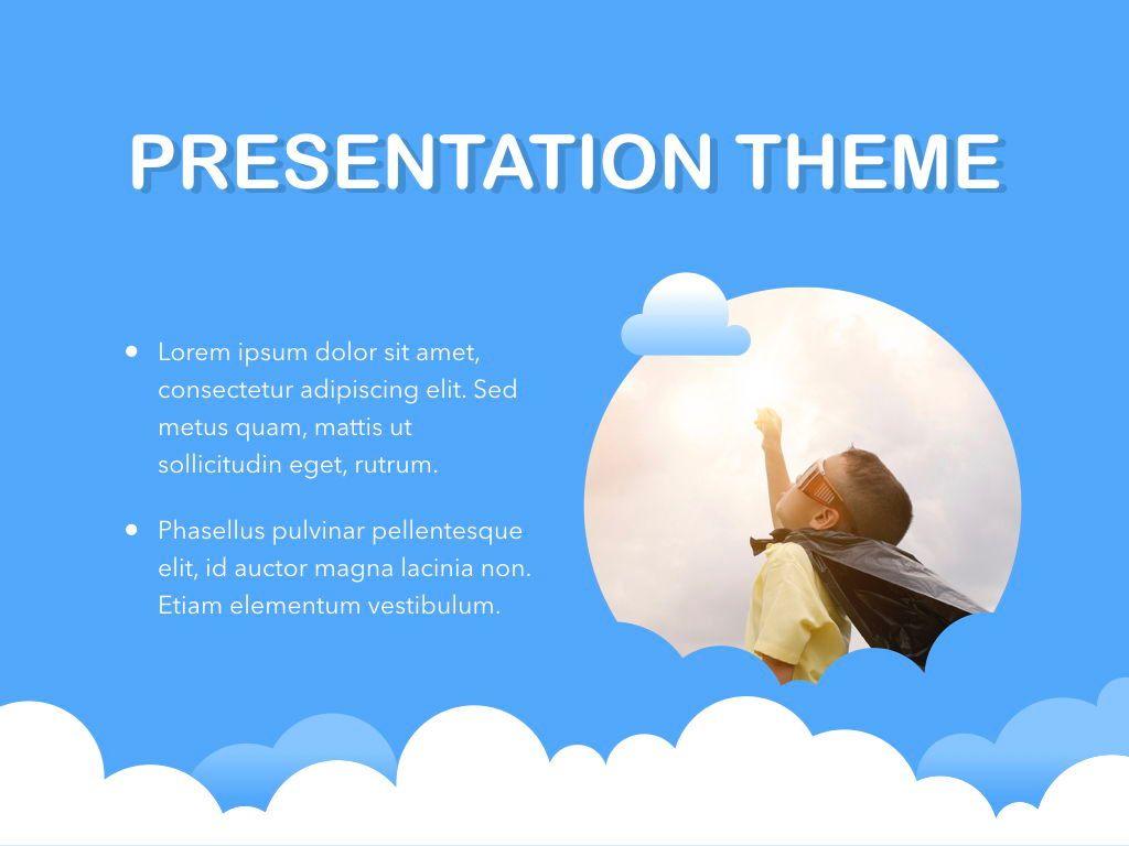 Cloudy Keynote Theme, Slide 30, 05096, Presentation Templates — PoweredTemplate.com