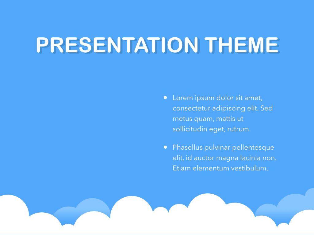 Cloudy Keynote Theme, Slide 33, 05096, Presentation Templates — PoweredTemplate.com