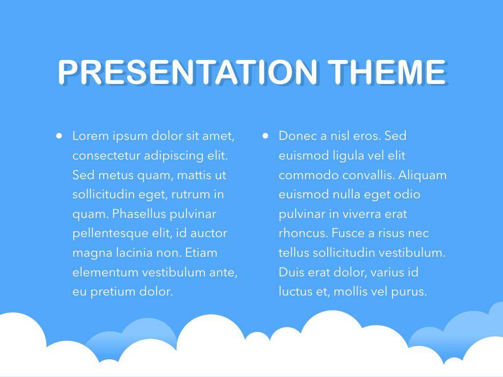 Cloudy Keynote Theme, Slide 4, 05096, Presentation Templates — PoweredTemplate.com