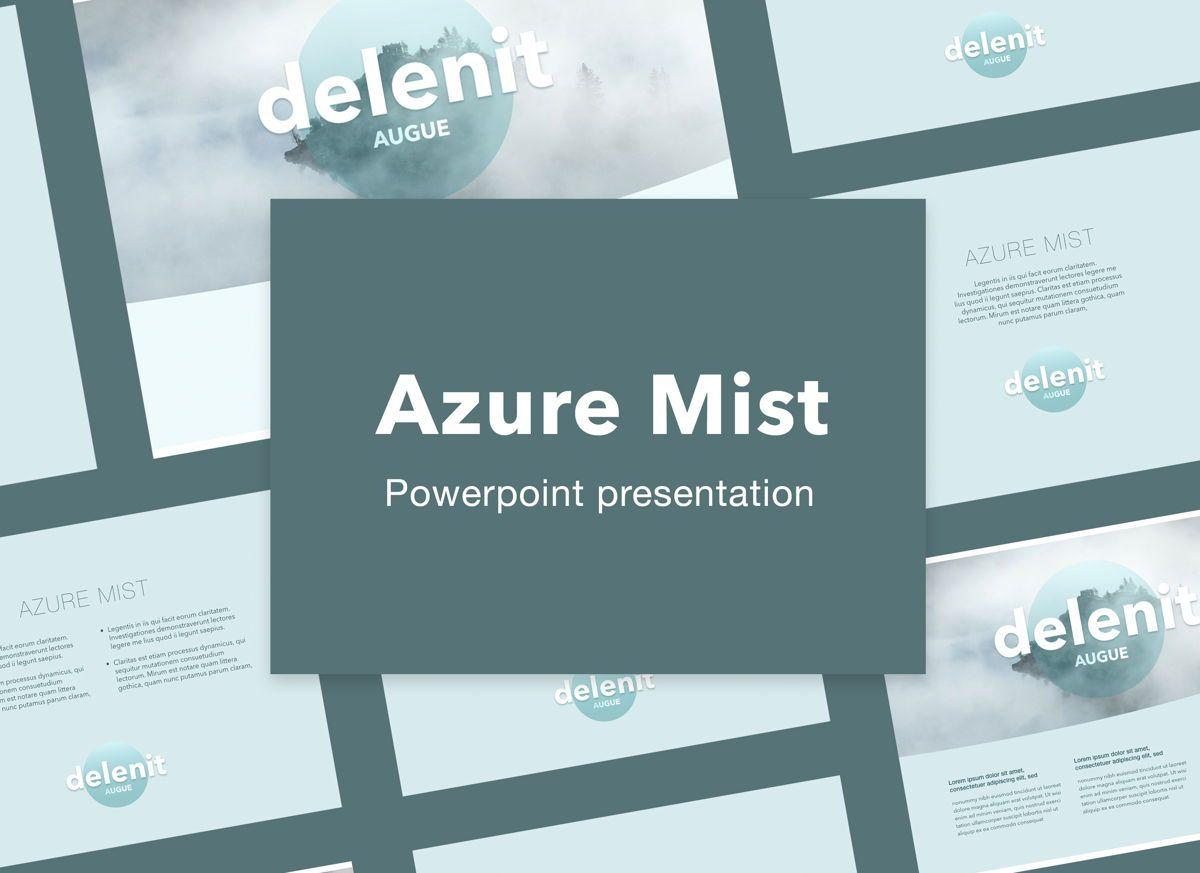 Azure Mist Powerpoint Presentation Template, 05100, Presentation Templates — PoweredTemplate.com