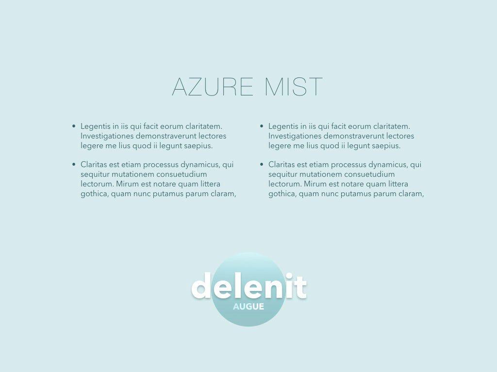 Azure Mist Powerpoint Presentation Template, Slide 10, 05100, Presentation Templates — PoweredTemplate.com