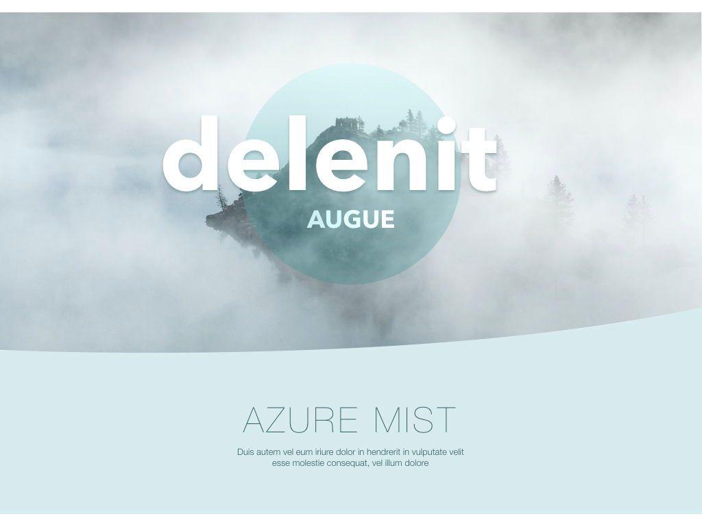 Azure Mist Powerpoint Presentation Template, Slide 12, 05100, Presentation Templates — PoweredTemplate.com