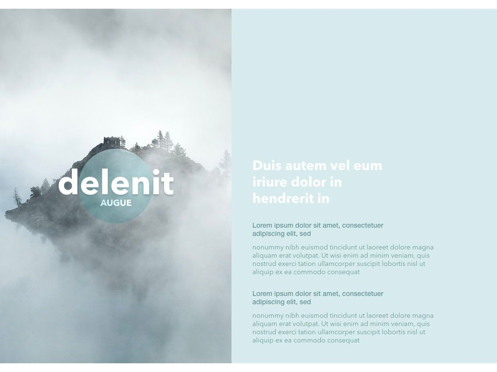 Azure Mist Powerpoint Presentation Template, Slide 2, 05100, Presentation Templates — PoweredTemplate.com