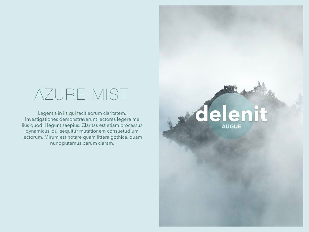 Azure Mist Powerpoint Presentation Template, Slide 3, 05100, Presentation Templates — PoweredTemplate.com