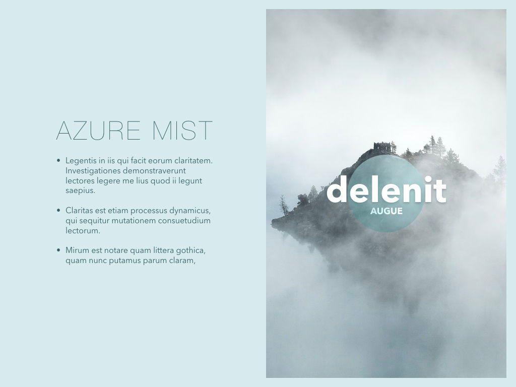Azure Mist Powerpoint Presentation Template, Slide 4, 05100, Presentation Templates — PoweredTemplate.com