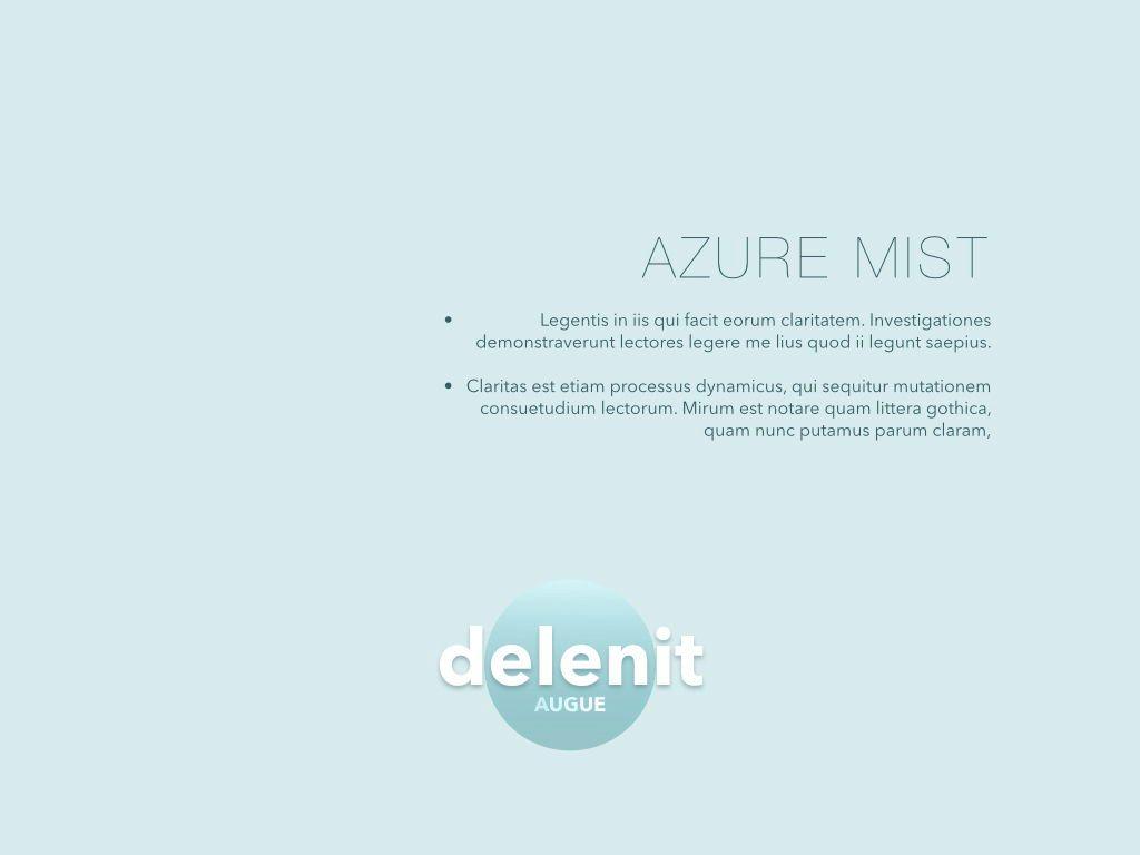 Azure Mist Powerpoint Presentation Template, Slide 5, 05100, Presentation Templates — PoweredTemplate.com