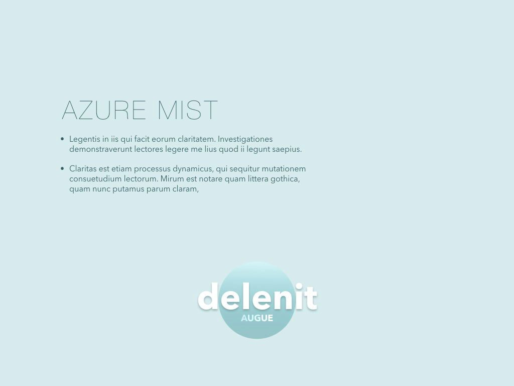 Azure Mist Powerpoint Presentation Template, Slide 8, 05100, Presentation Templates — PoweredTemplate.com