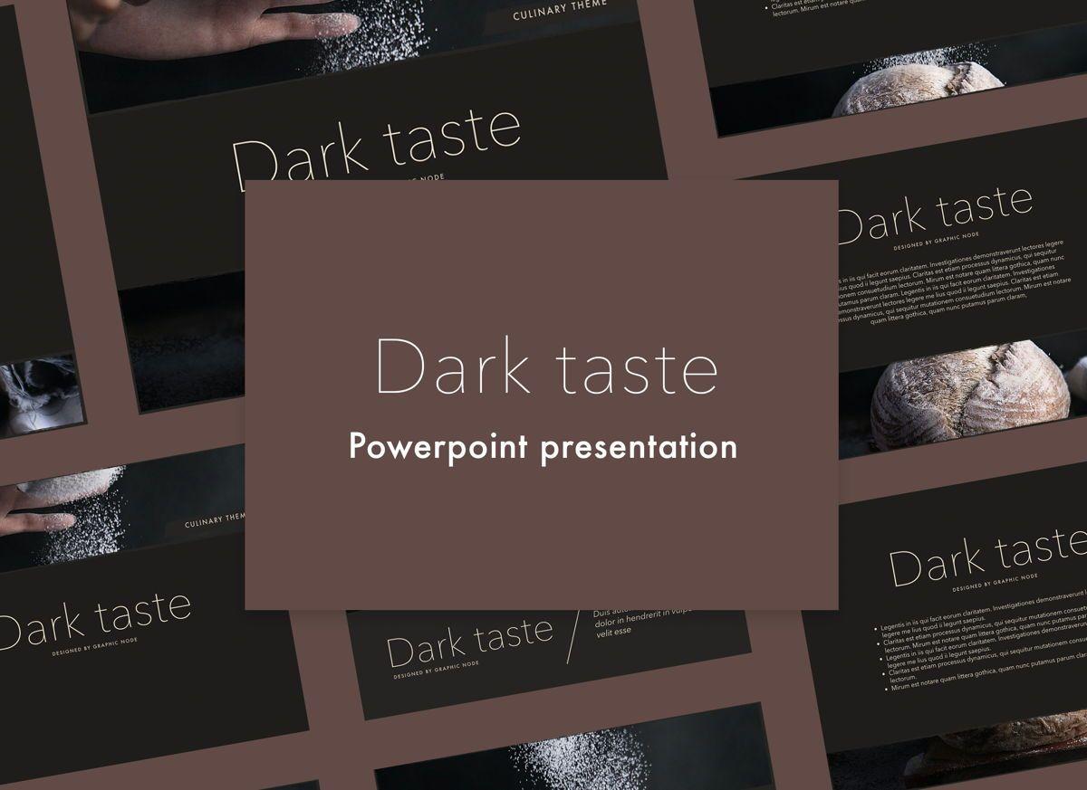 Dark Taste Powerpoint Presentation Template, 05101, Presentation Templates — PoweredTemplate.com
