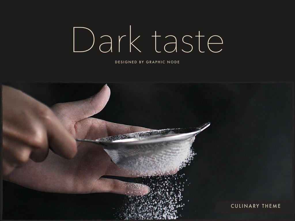 Dark Taste Powerpoint Presentation Template, Slide 12, 05101, Presentation Templates — PoweredTemplate.com