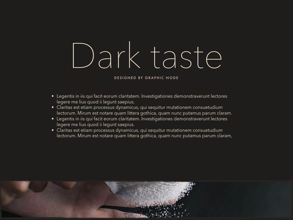 Dark Taste Powerpoint Presentation Template, Slide 7, 05101, Presentation Templates — PoweredTemplate.com