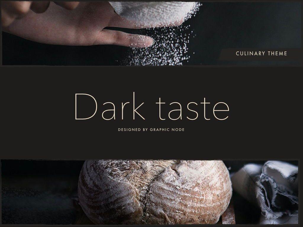 Dark Taste Powerpoint Presentation Template, Slide 8, 05101, Presentation Templates — PoweredTemplate.com