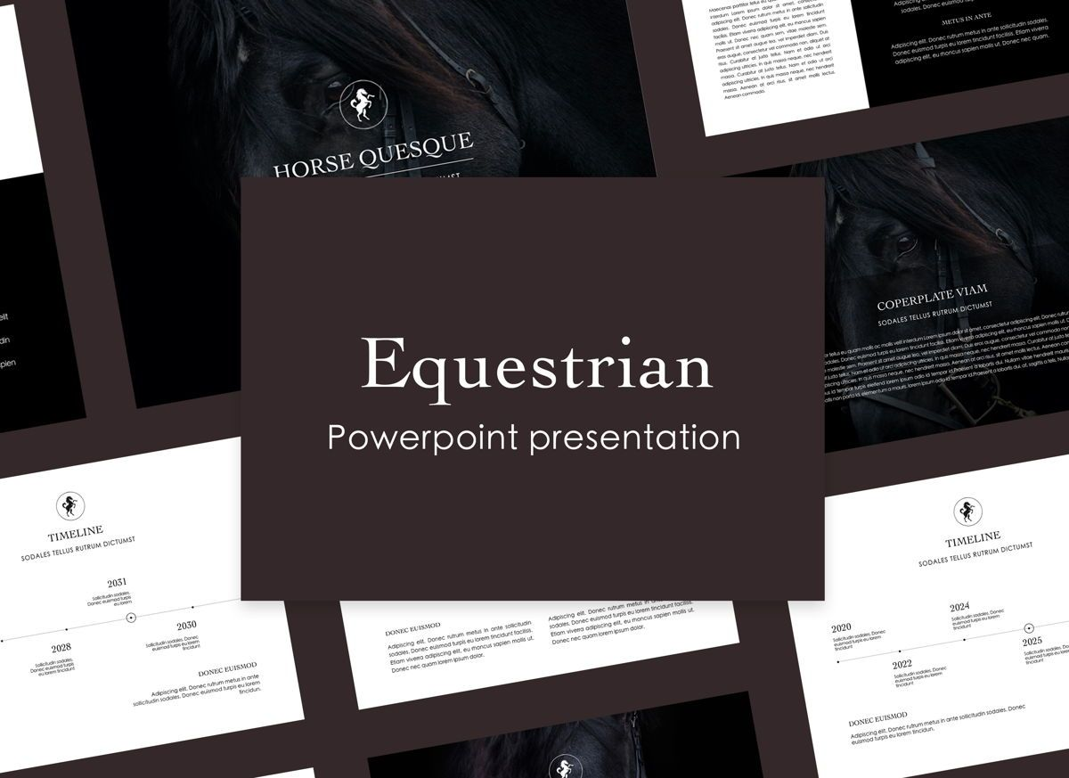Equestrian Powerpoint Presentation Template, 05103, Presentation Templates — PoweredTemplate.com