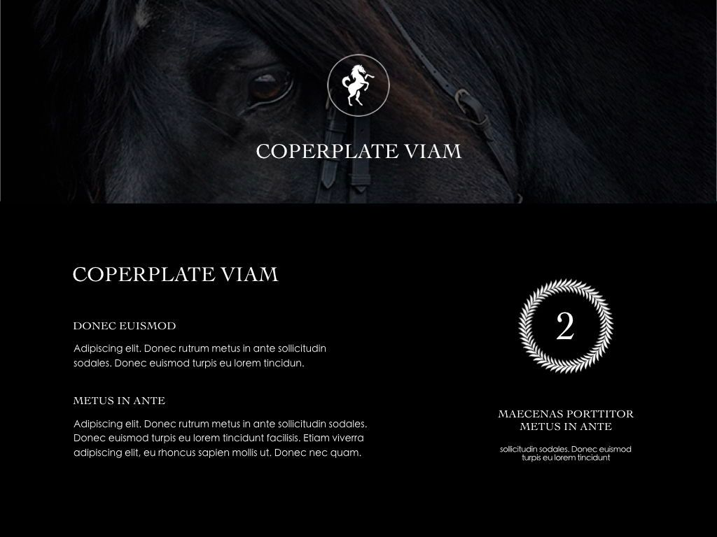 Equestrian Powerpoint Presentation Template, Slide 16, 05103, Presentation Templates — PoweredTemplate.com