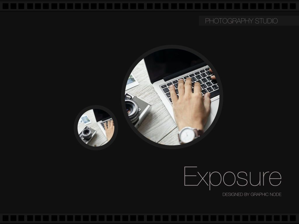 Exposure Powerpoint Presentation Template, Slide 12, 05104, Presentation Templates — PoweredTemplate.com