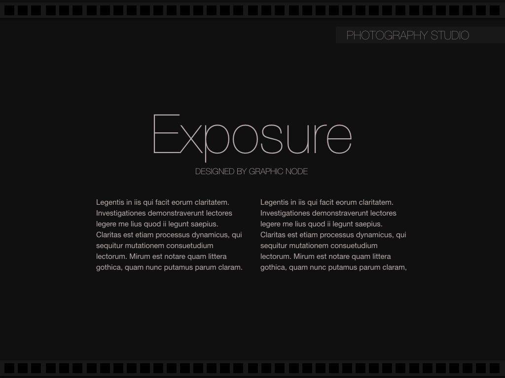 Exposure Powerpoint Presentation Template, Slide 7, 05104, Presentation Templates — PoweredTemplate.com