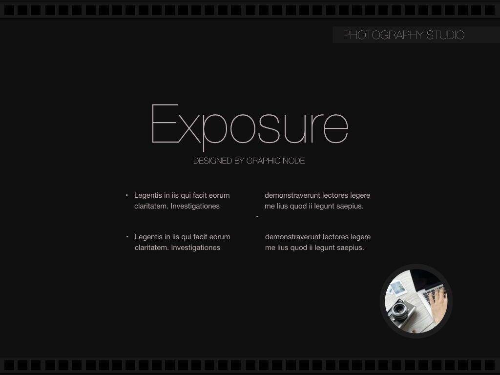 Exposure Powerpoint Presentation Template, Slide 8, 05104, Presentation Templates — PoweredTemplate.com
