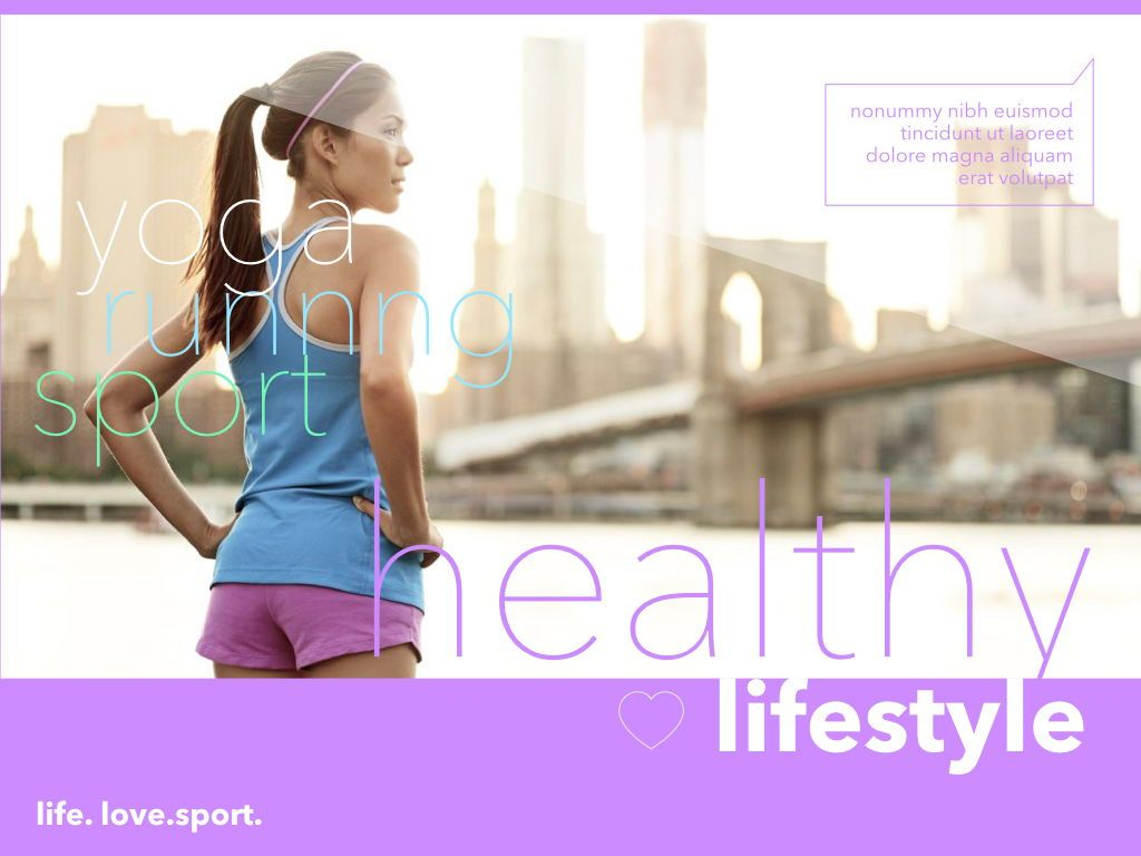 Fit Healthy Powerpoint Presentation Template, Slide 12, 05105, Presentation Templates — PoweredTemplate.com