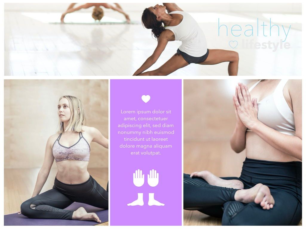 Fit Healthy Powerpoint Presentation Template, Slide 15, 05105, Presentation Templates — PoweredTemplate.com