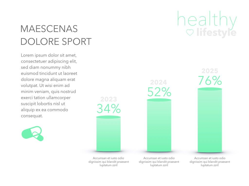 Fit Healthy Powerpoint Presentation Template, Slide 20, 05105, Presentation Templates — PoweredTemplate.com