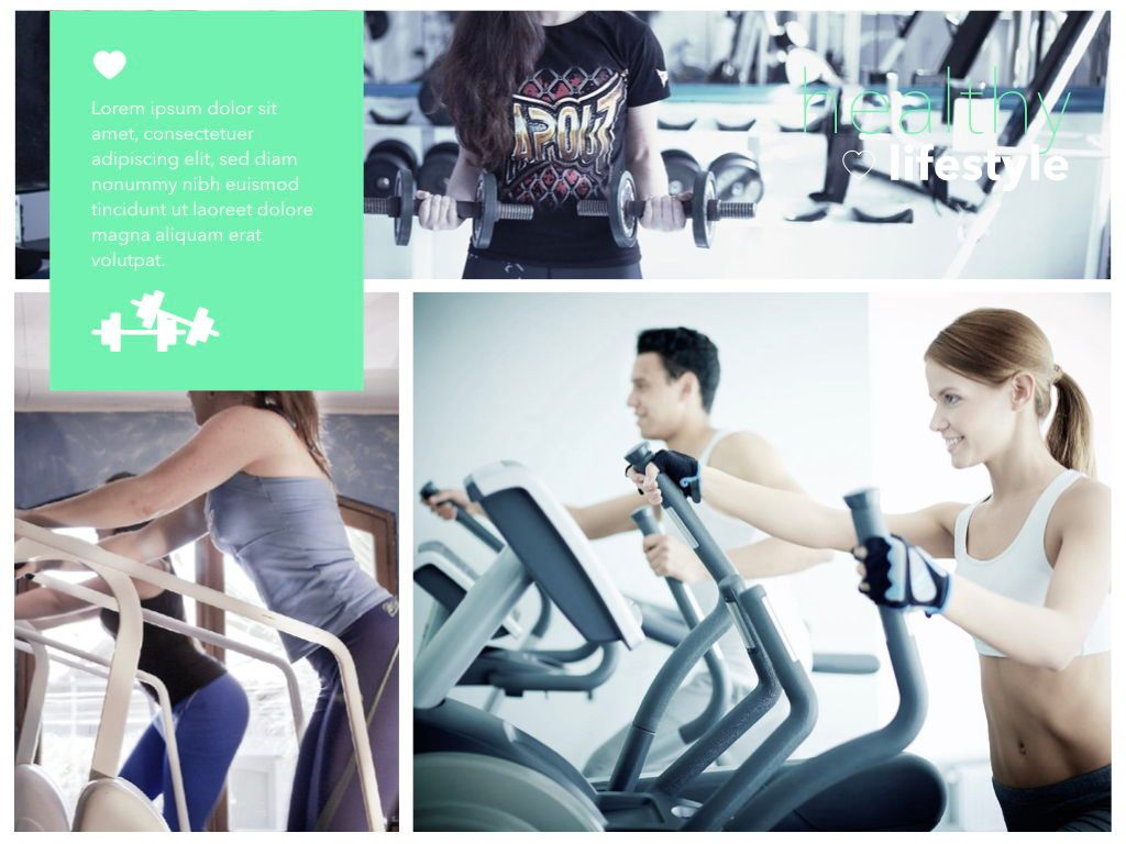 Fit Healthy Powerpoint Presentation Template, Slide 22, 05105, Presentation Templates — PoweredTemplate.com