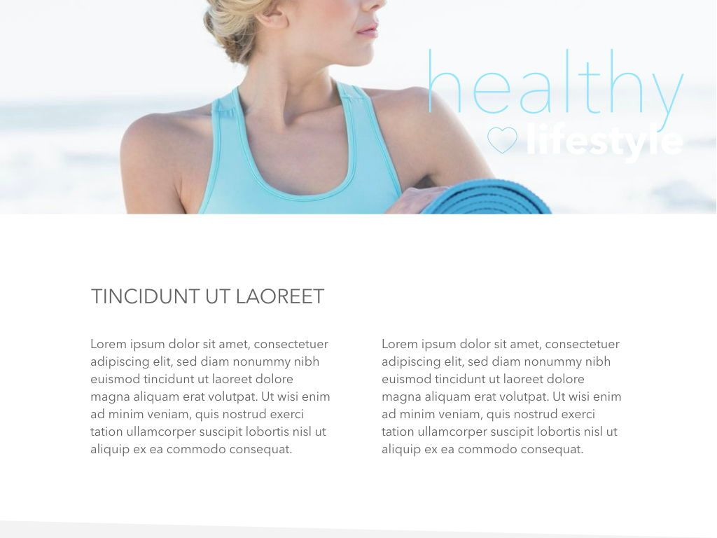 Fit Healthy Powerpoint Presentation Template, Slide 23, 05105, Presentation Templates — PoweredTemplate.com