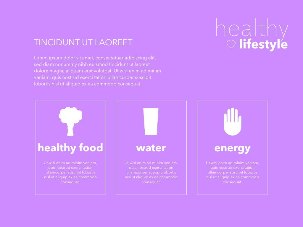Fit Healthy Powerpoint Presentation Template, Slide 8, 05105, Presentation Templates — PoweredTemplate.com