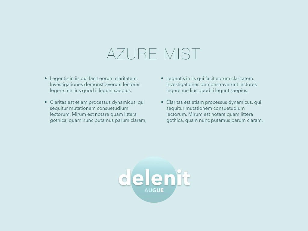 Azure Mist Google Slides Presentation Template, Slide 10, 05107, Presentation Templates — PoweredTemplate.com
