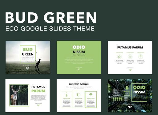 Presentation Templates: Bud Green Google Slides Presentation Template #05109