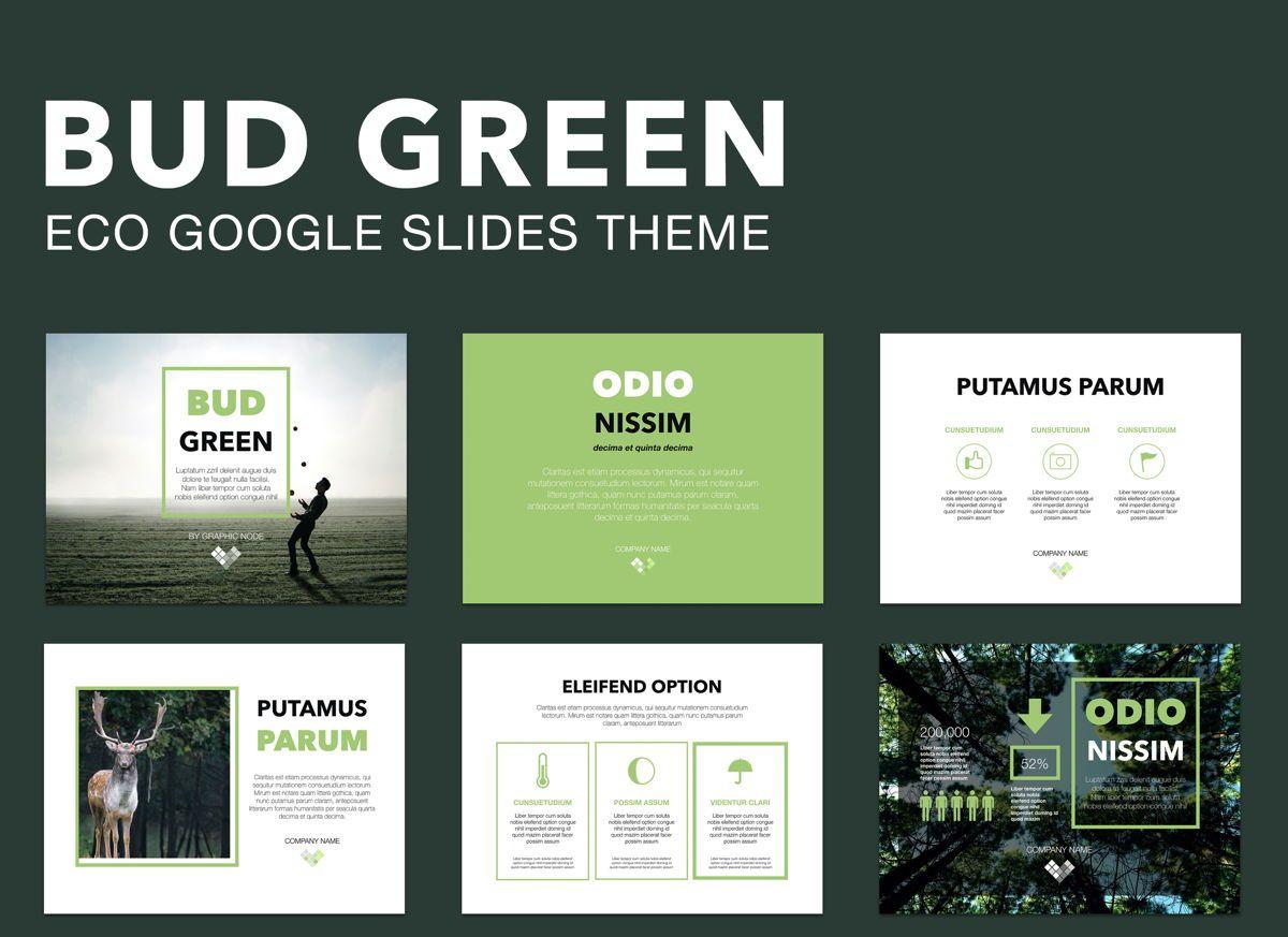 Bud Green Google Slides Presentation Template, 05109, Presentation Templates — PoweredTemplate.com