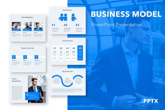 Presentation Templates: Business Model PowerPoint Template #05110