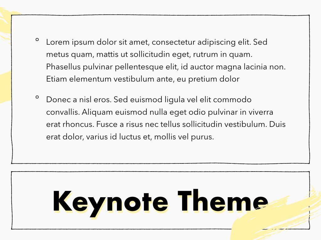 Sketched Keynote Theme, Slide 12, 05111, Presentation Templates — PoweredTemplate.com