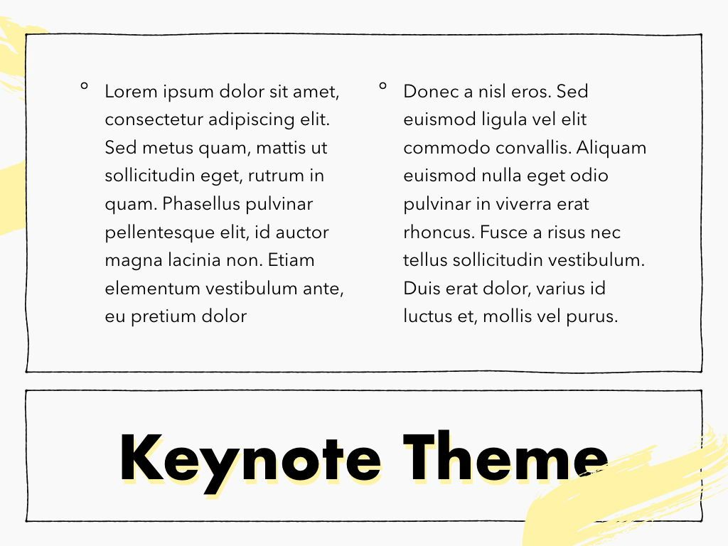 Sketched Keynote Theme, Slide 13, 05111, Presentation Templates — PoweredTemplate.com