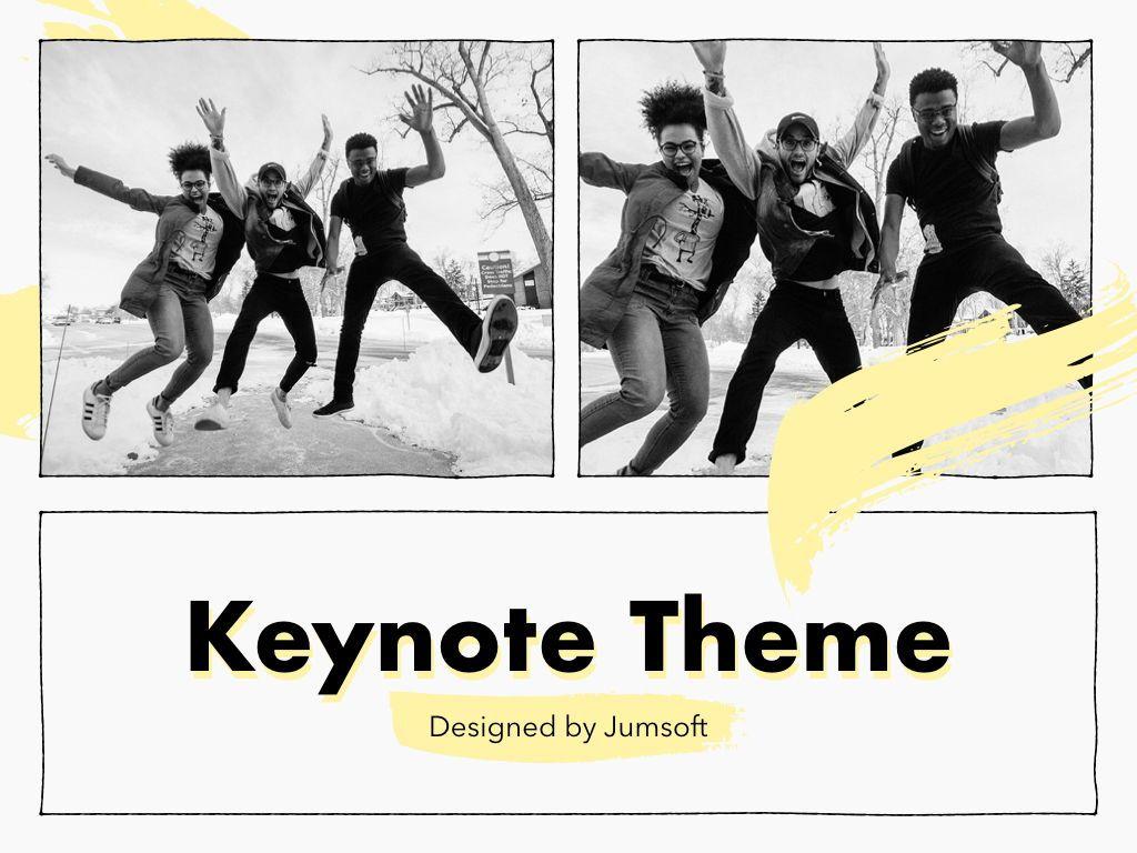 Sketched Keynote Theme, Slide 14, 05111, Presentation Templates — PoweredTemplate.com